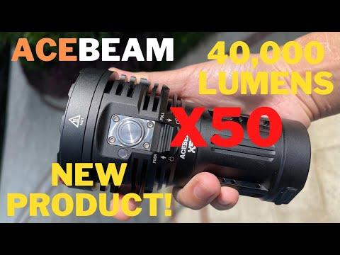 All NEW AceBeam X50!!   40,000 Lumen HANDHELD FLOODLIGHT