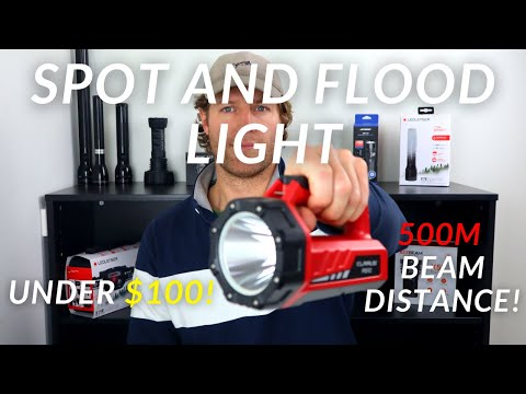 NEW Spot AND Flood Light with 500M Beam UNDER $100! | Klarus RS10