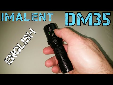Imalent DM35 LED flashlight with 450m beam distance - presentation in ENGLISH