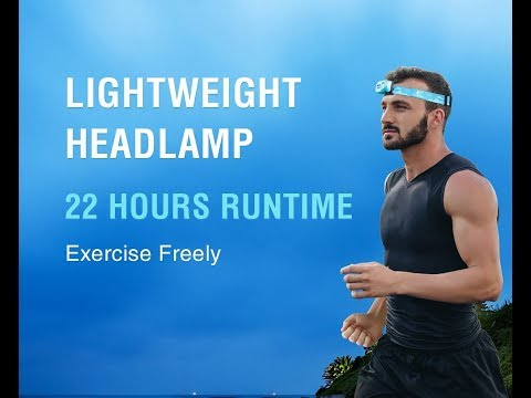 Klarus Headlamp H1A-PL for camping, running and hiking, lightweight but powerful