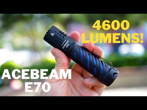 4600 Lumens in a TINY Torch - AceBeam E70