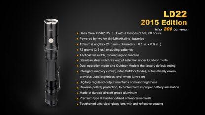 Fenix LD22 (300 ANSI Lumens AA Battery)-10351