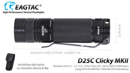 EagleTac D25C MK II Clicky CREE XM-L2 LED Pocket Torch (800 Lumens)-19754
