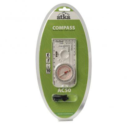 Atka AC50 Orienteering Baseplate Compass-0
