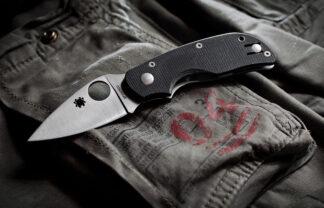 Spyderco Cat G-10 Black - Plain Blade-7938