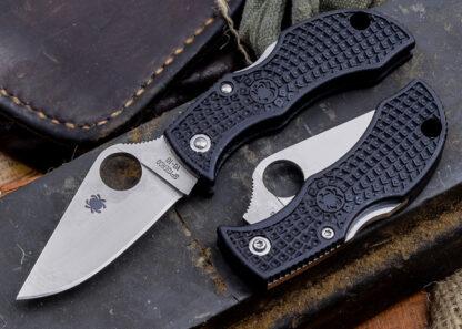 Spyderco Manbug Lightweight Black - Plain Blade-7930