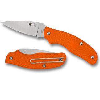Spyderco Spy-DK Lightweight Orange Joint - Plain Blade-0
