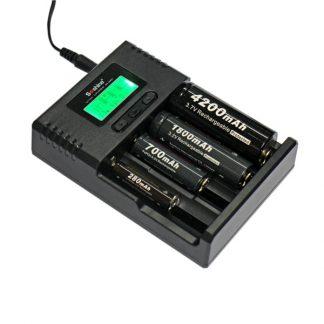 Soshine SC-H4 Li-ion & NiMH LCD Display Battery Charger-0