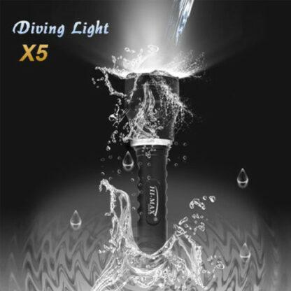 Hi-Max X5 Magnetic Diving Torch - 1000 Lumens-9677