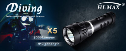 Hi-Max X5 Magnetic Diving Torch - 1000 Lumens-11884