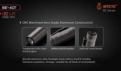 JETBeam SE-A01 EDC Pocket Flashlight - 130 Lumens-9889