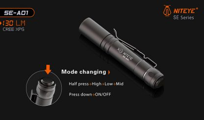 JETBeam SE-A01 EDC Pocket Flashlight - 130 Lumens-9890
