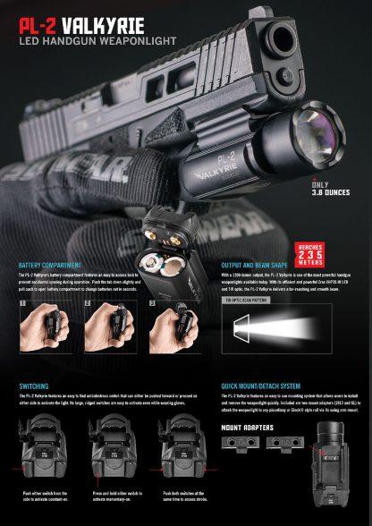 Olight PL-2 Valkyrie Gun Light - 1200 Lumens (235m)-15448