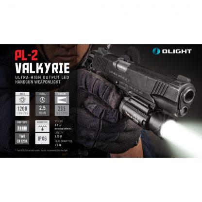 Olight PL-2 Valkyrie Gun Light - 1200 Lumens (235m)-15442