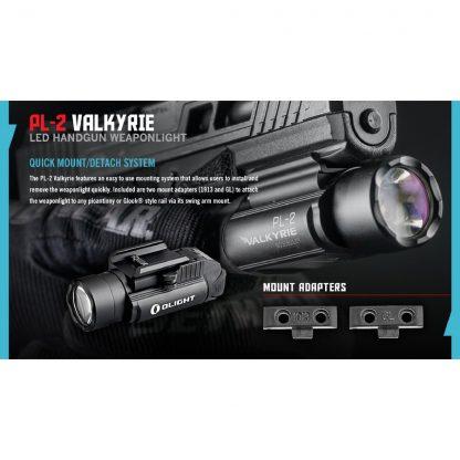 Olight PL-2 Valkyrie Gun Light - 1200 Lumens (235m)-15435