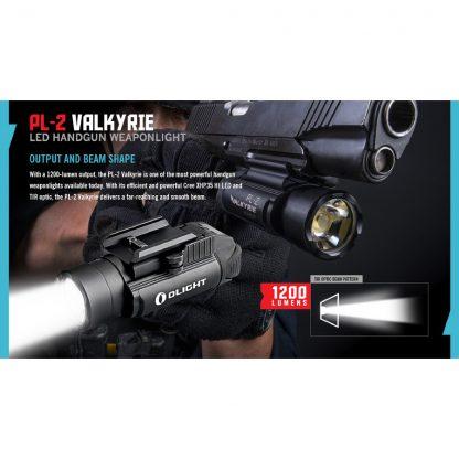 Olight PL-2 Valkyrie Gun Light - 1200 Lumens (235m)-15443