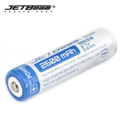 JETBeam 2600mAh 18650 Rechargeable Li-ion Battery-10071