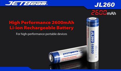 JETBeam 2600mAh 18650 Rechargeable Li-ion Battery-10065