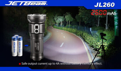 JETBeam 2600mAh 18650 Rechargeable Li-ion Battery-10067