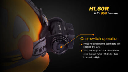 Fenix HL60R Rechargeable Headlamp (950 lumens)-10419
