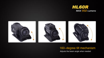 Fenix HL60R Rechargeable Headlamp (950 lumens)-10416