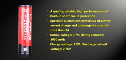 Klarus 18650 2600mah rechargeable battery-10544