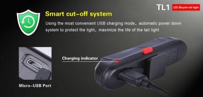 Klarus TL1 USB Rechargeable Bike Tail Light -10535