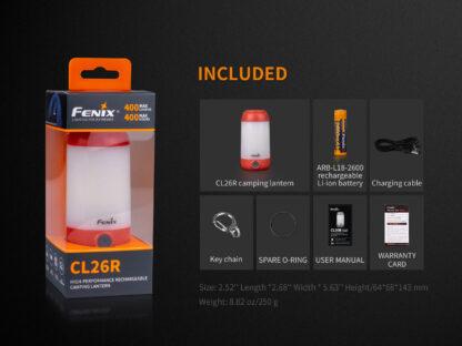 Fenix CL26R Camping Lantern (400 Lumens)-15259
