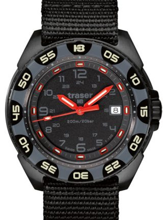 Traser P49 Red Alert T100 Watch with NATO Band-0
