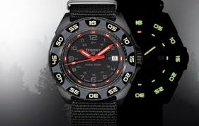 Traser P49 Red Alert T100 Watch with NATO Band-15545