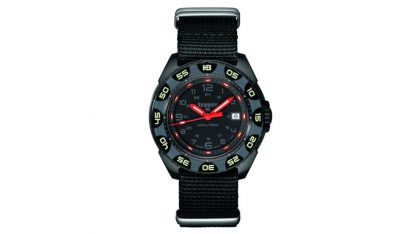 Traser P49 Red Alert T100 Watch with NATO Band-15540