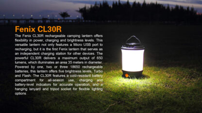 Fenix CL30R Rechargeable Camping Lantern (650 Lumens)-11100