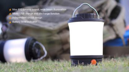 Fenix CL30R Rechargeable Camping Lantern (650 Lumens)-11088