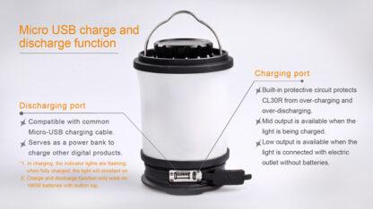 Fenix CL30R Rechargeable Camping Lantern (650 Lumens)-11099