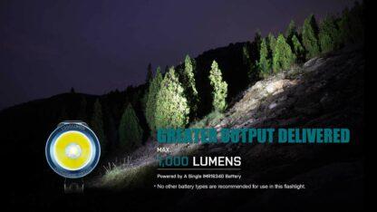 Olight S1R II Baton Rechargeable Torch - 1000 Lumens -15209