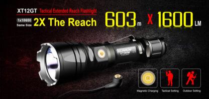 Klarus XT12GT Tactical Flashlight (1600 Lumens)-13068