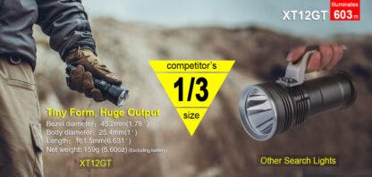 Klarus XT12GT Tactical Flashlight (1600 Lumens)-13065