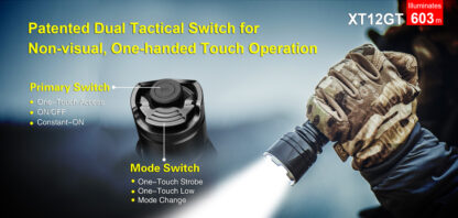 Klarus XT12GT Tactical Flashlight (1600 Lumens)-13066