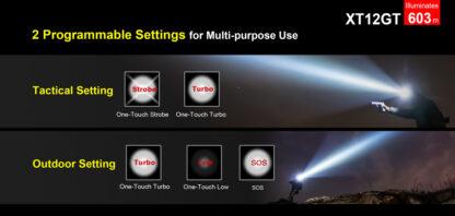 Klarus XT12GT Tactical Flashlight (1600 Lumens)-13061