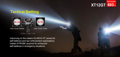 Klarus XT12GT Tactical Flashlight (1600 Lumens)-13067