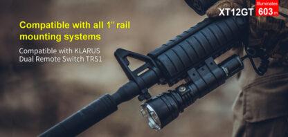 Klarus XT12GT Tactical Flashlight (1600 Lumens)-13071