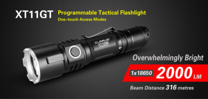 Klarus XT11GT 2000 Lumen Rechargeable Torch-16856