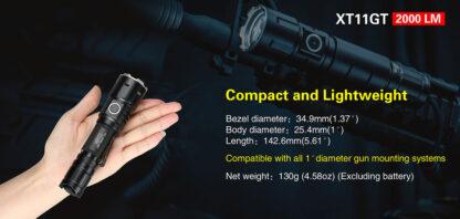 Klarus XT11GT 2000 Lumen Rechargeable Torch-16846