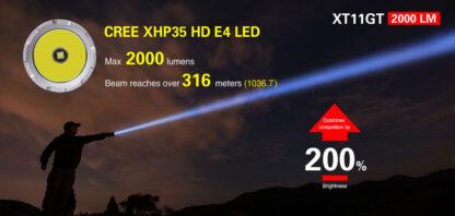 Klarus XT11GT 2000 Lumen Rechargeable Torch-16862