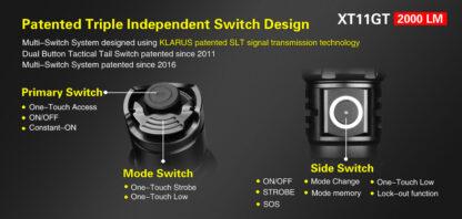 Klarus XT11GT 2000 Lumen Rechargeable Torch-16863