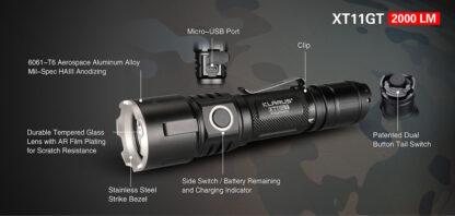Klarus XT11GT 2000 Lumen Rechargeable Torch-16851