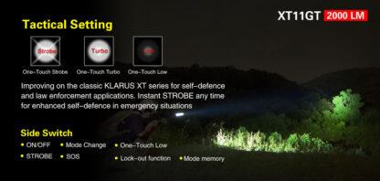 Klarus XT11GT 2000 Lumen Rechargeable Torch-16859