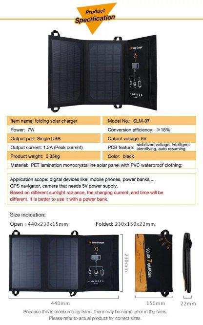 Folding Solar Panel- 7 watt-14433