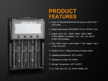 Fenix ARE-A4 Smart Four-Channel Battery Charger-15270