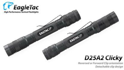 EagleTac D25A2 Clicky CREE XM-L2 LED Pocket Torch (520 Lumens) 2x AA Batteries-19735